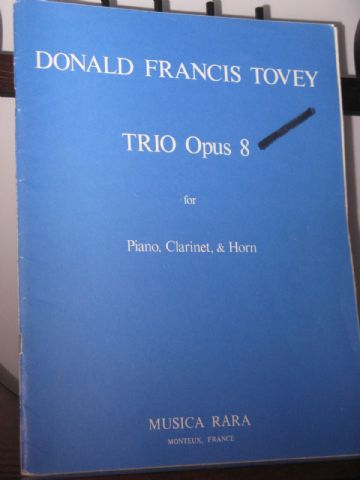 Tovey F D - Trio Op 8 for Clarinet Horn & Piano